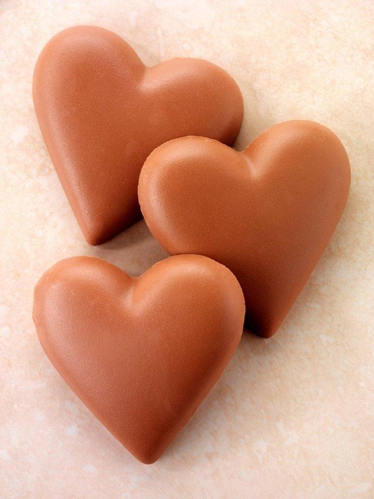 Chocolate Hearts : Stock Photo
