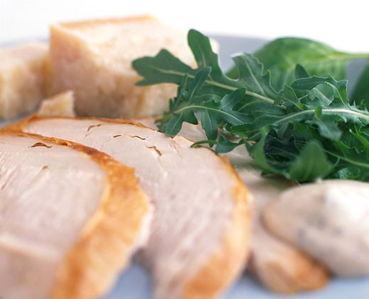 Roast Chicken and Rocket : Stock Photo