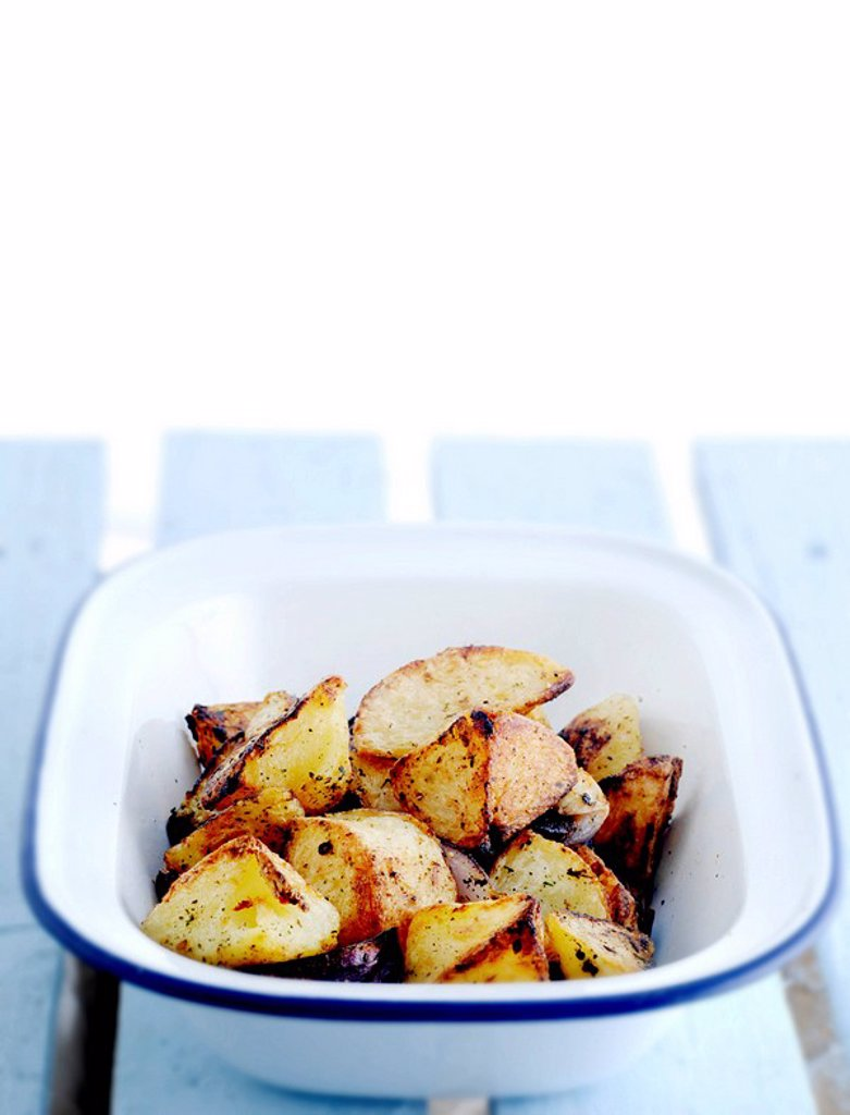 Roast potatoes : Stock Photo