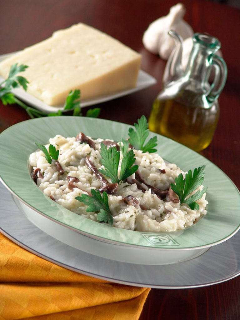 Rice with Asiago ( Sharp cow´s milk cheese of the Veneto ) : Stock Photo