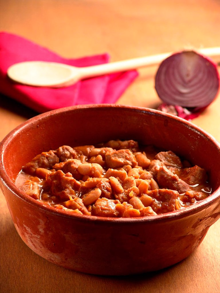 Italian pork and beans stew : Stock Photo
