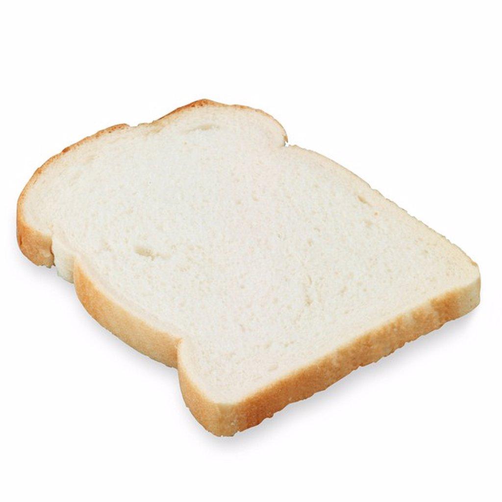 Stock Photo: 1898-18560 Slice of White Bread