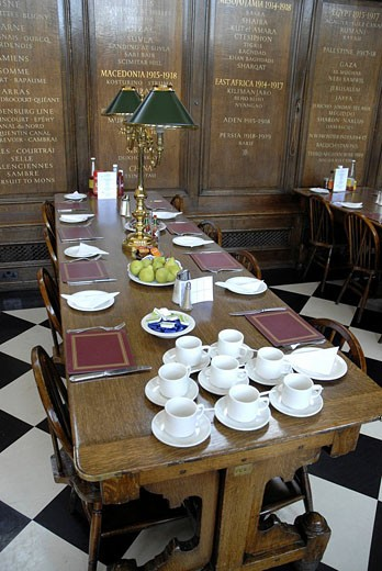 The Refectory at the Royal Hospital Chelsea London August 2007 : Stock Photo