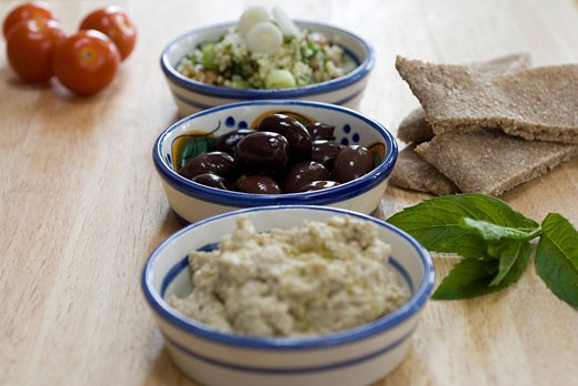 Meze dishes : Stock Photo