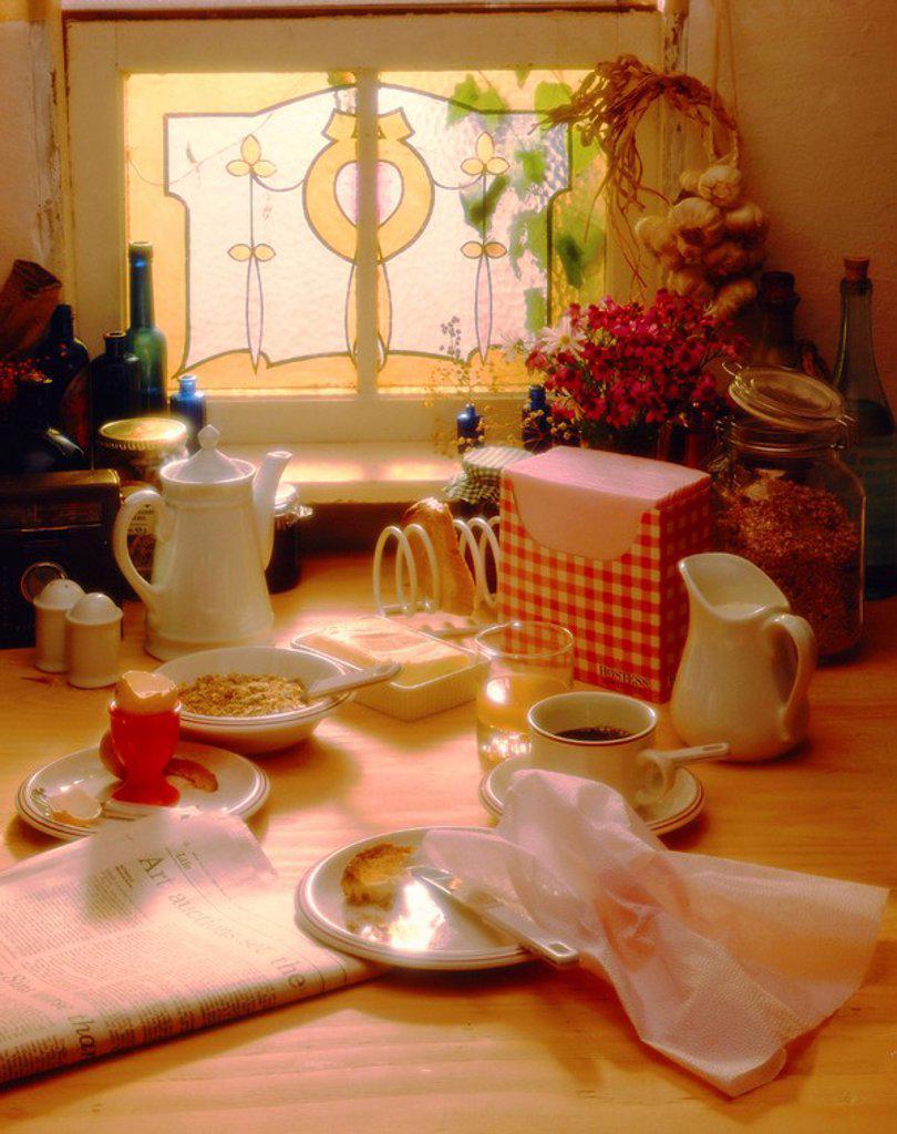 Breakfast Setting : Stock Photo