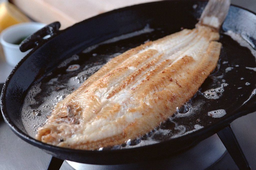 Stock Photo: 1898-22563 Pan_fried Dover Sole