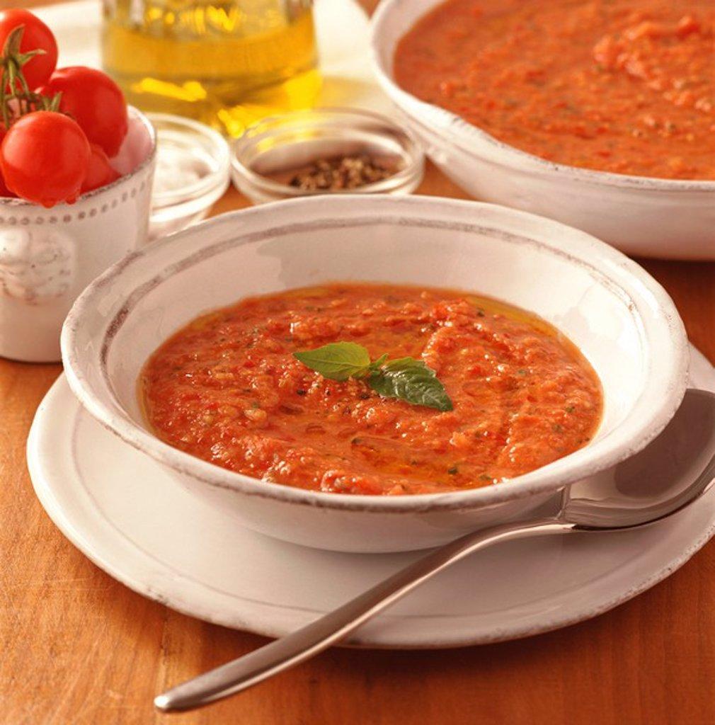 Stock Photo: 1898-22670 Gazpacho Soup