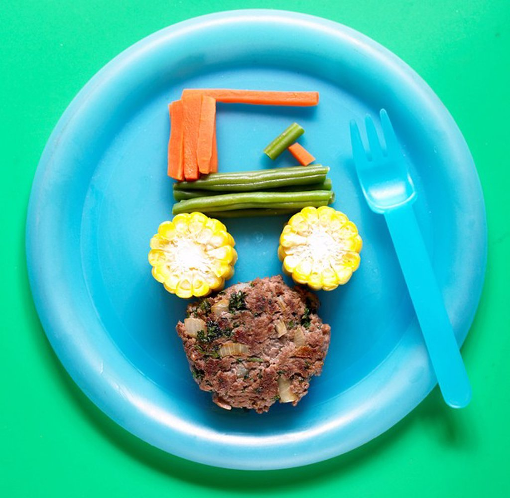 Fred´s boulder mobile / burger & vegetables_ With Recipe : Stock Photo