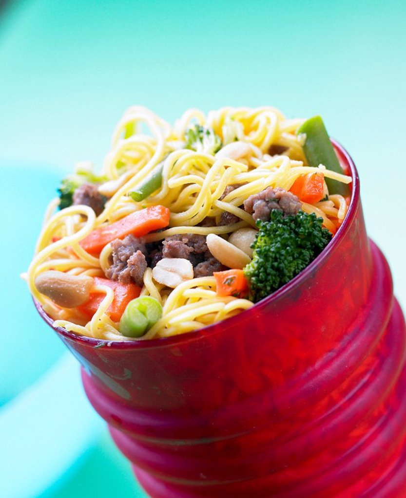 Stock Photo: 1898-25249 Kids noodles with mince and Vegetables _ Potty Noodles _With recipe