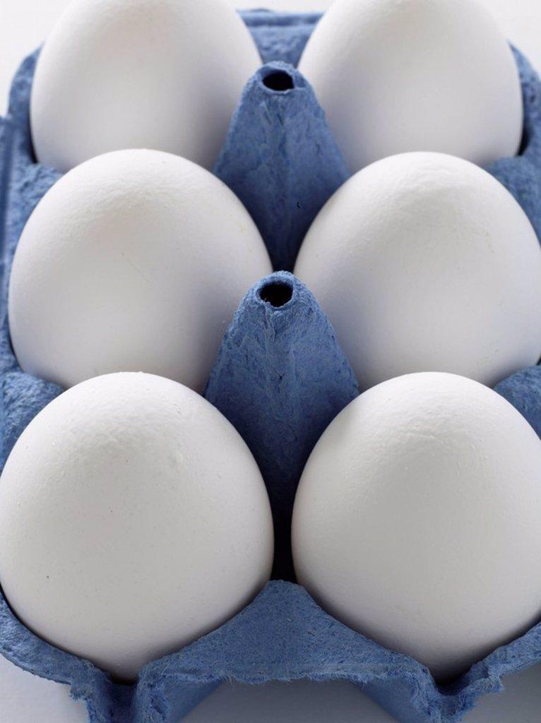 Stock Photo: 1898-26200 Eggs In Box