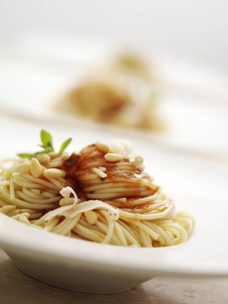 Stock Photo: 1898-27350 Spaghetti with Tomato sauce