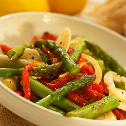 Asparagus and pepper salad : Stock Photo