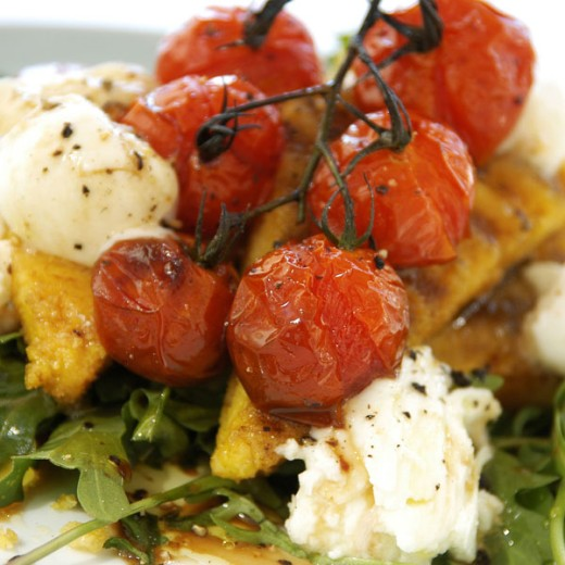 Baked polenta : Stock Photo