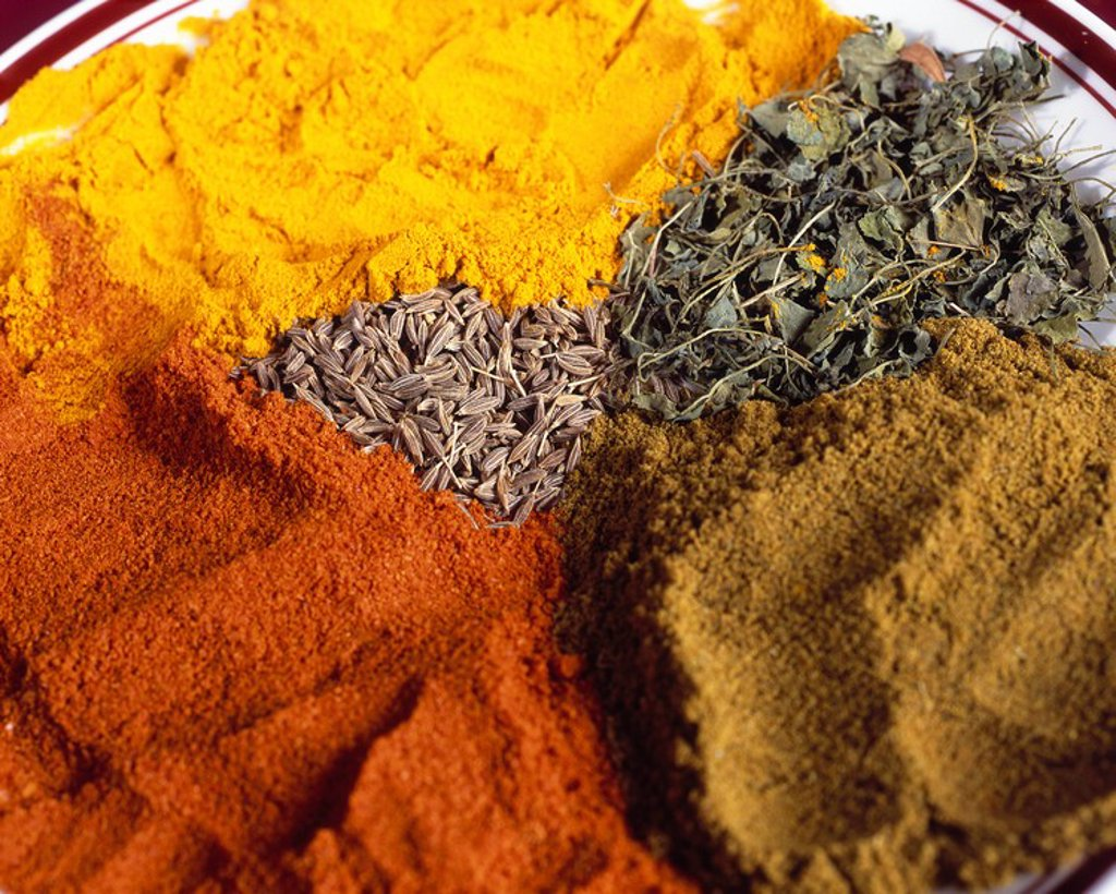 Colourful Indian Spices : Stock Photo