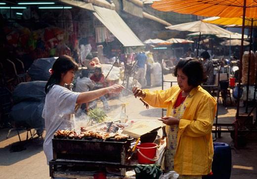 Asian market : Stock Photo