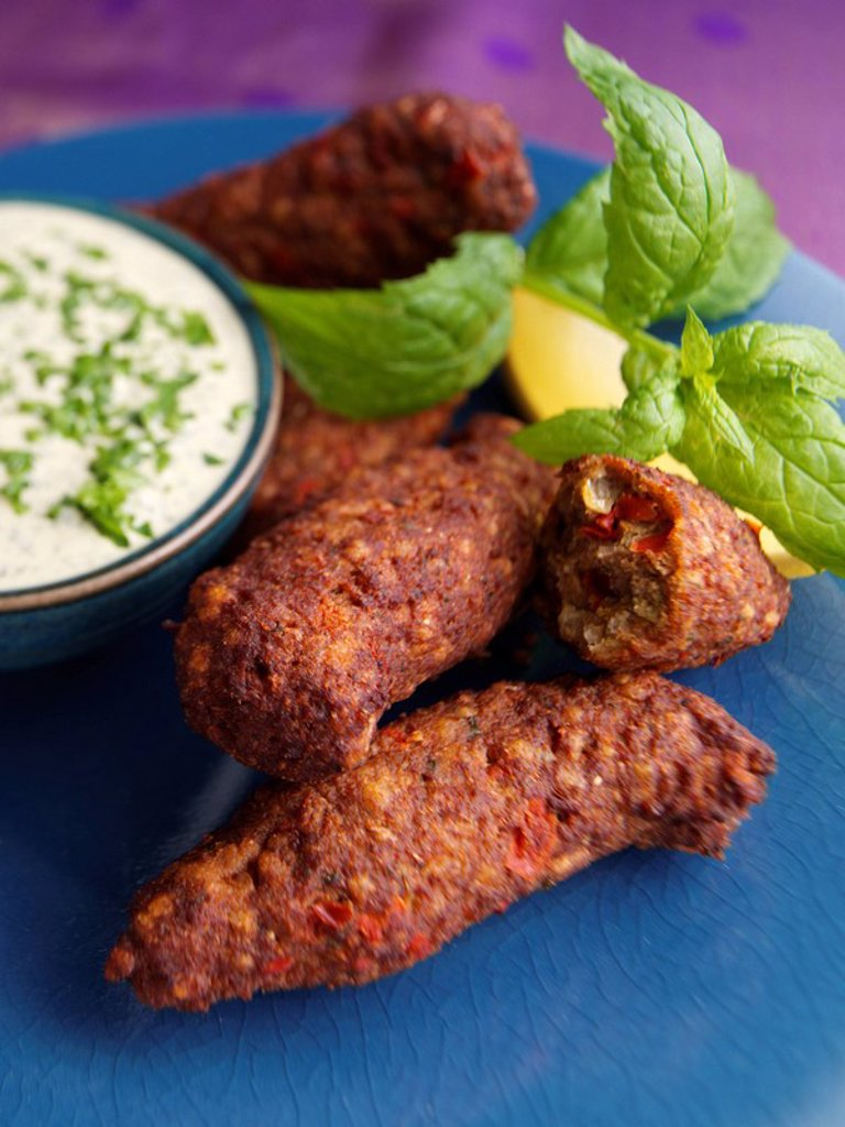 Stock Photo: 1898-34040 Lamb Shami Kebabs