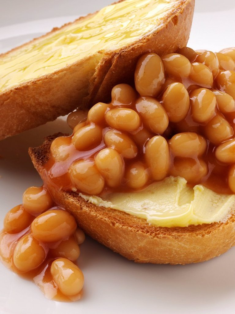 Stock Photo: 1898-34400 Baked Beans on Toast