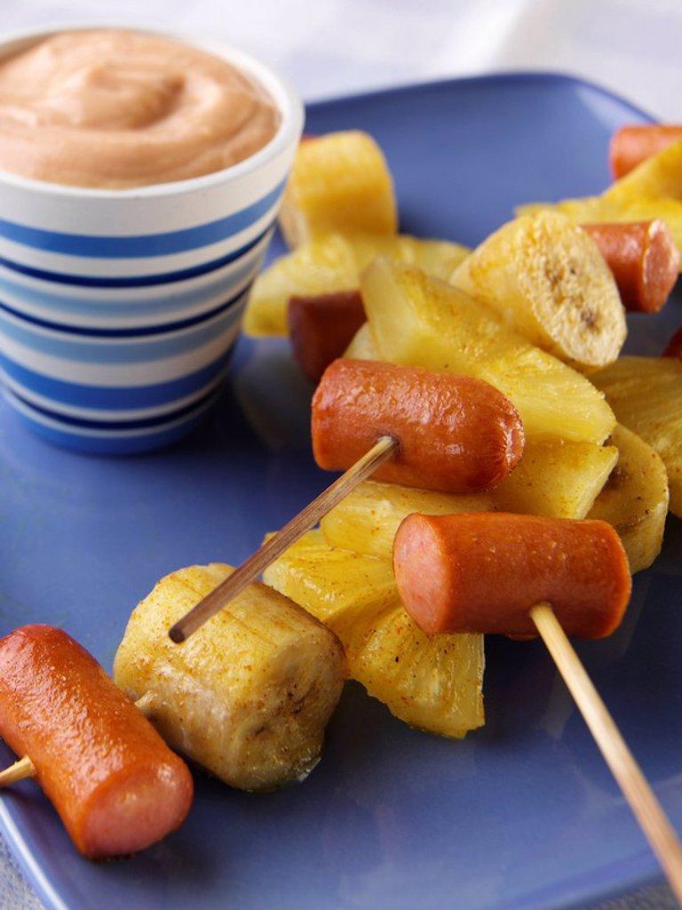 Sausage Kebabs : Stock Photo