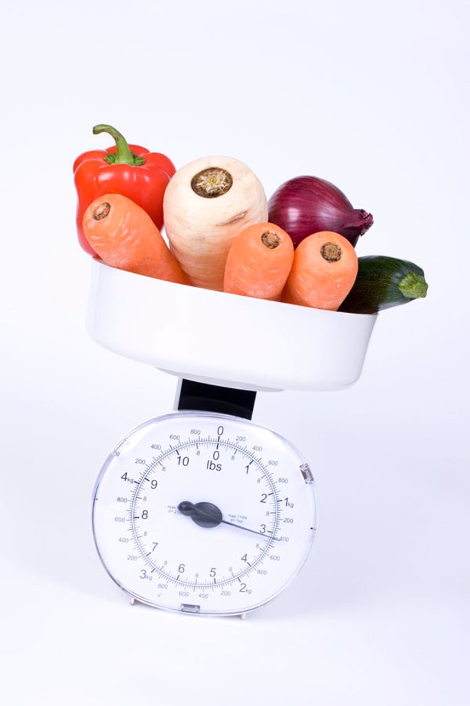 Assorted Vegetables, ready for weighing. : Stock Photo