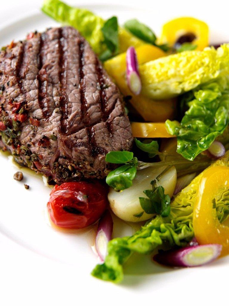 Stock Photo: 1898-36425 Peppered Steak