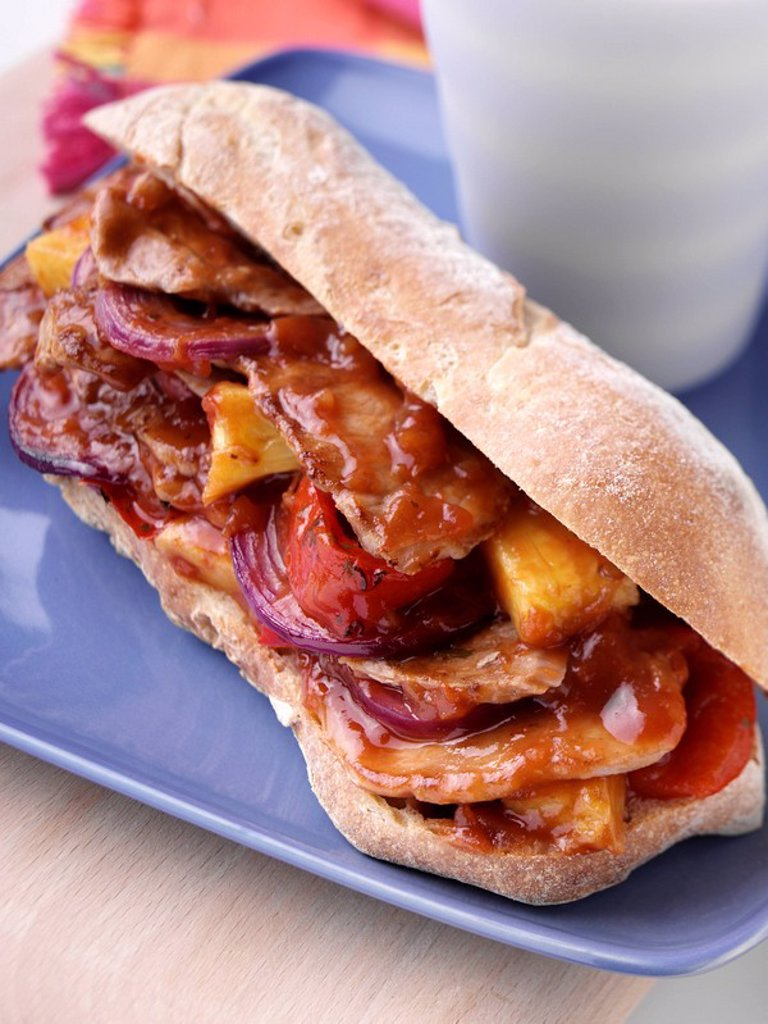 Pork Ciabatta, : Stock Photo