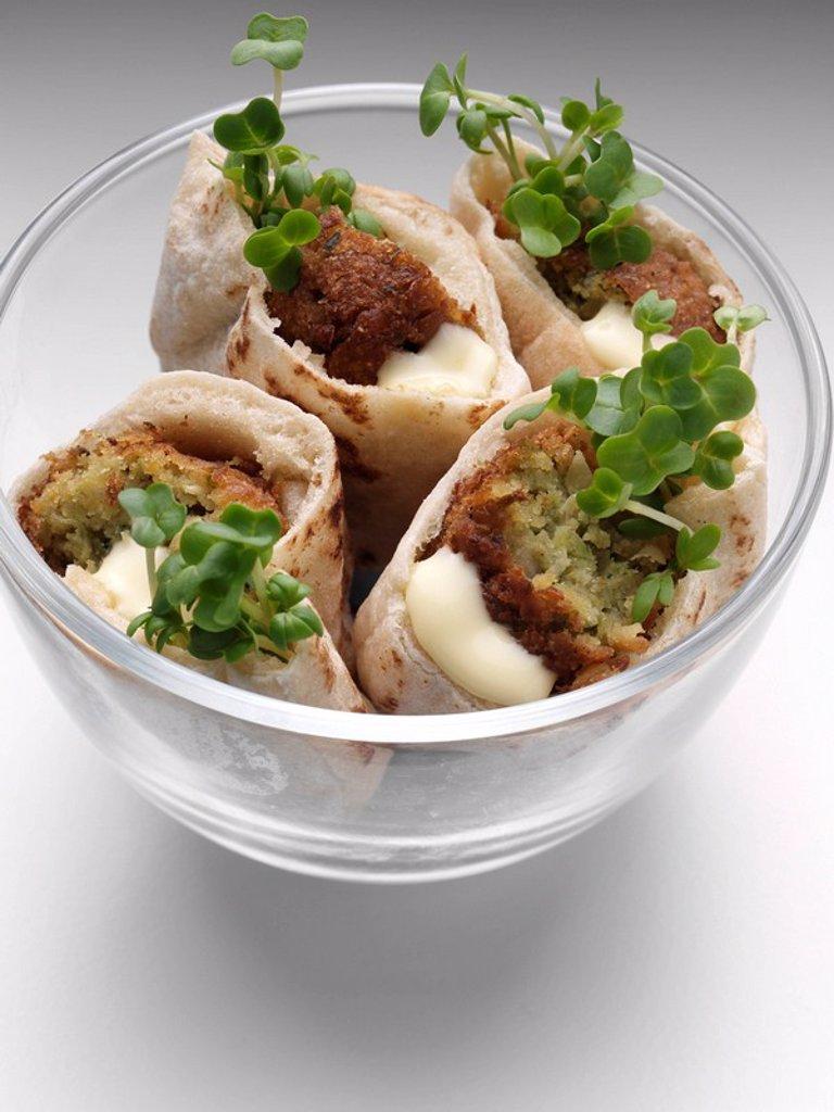 Falafel Pitta, : Stock Photo
