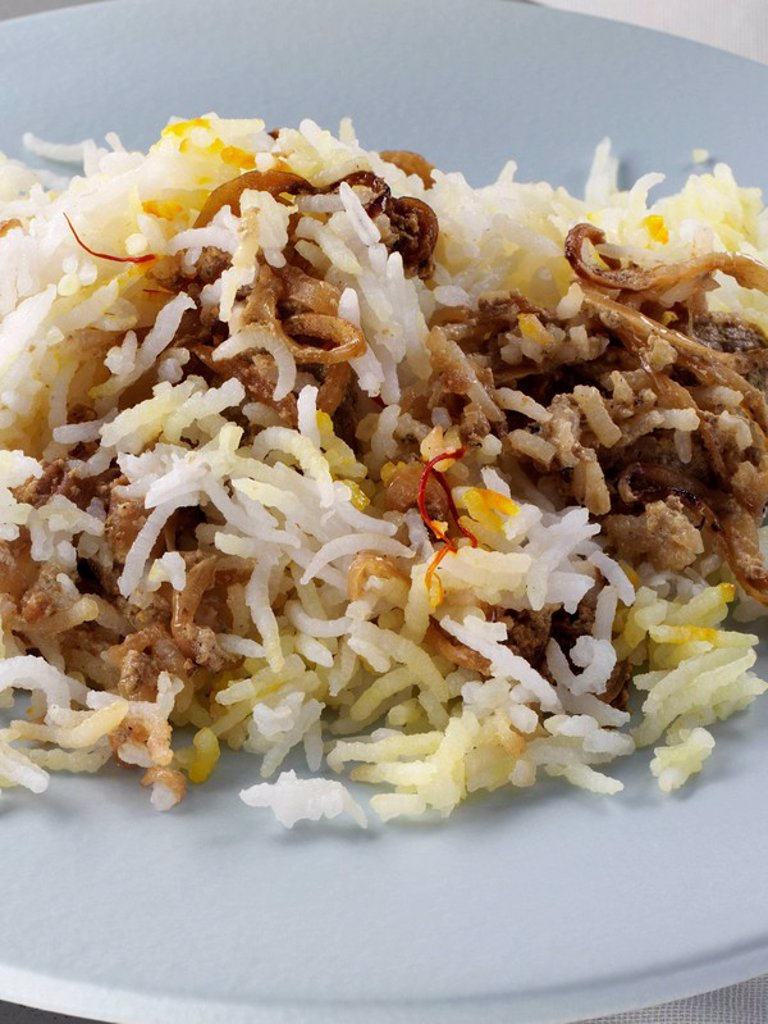 Lamb biryani with rice : Stock Photo