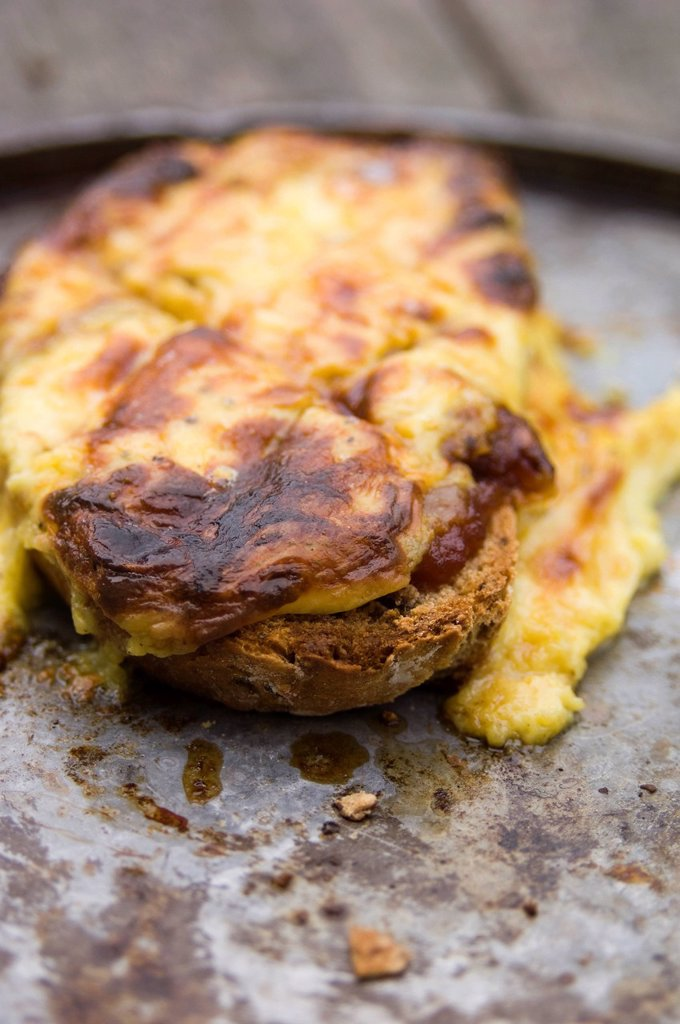 Welsh rarebit _ step shot : Stock Photo