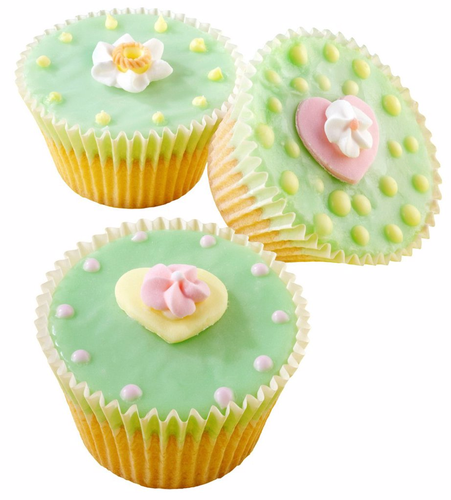 Stock Photo: 1898-45564 Green Cupcakes