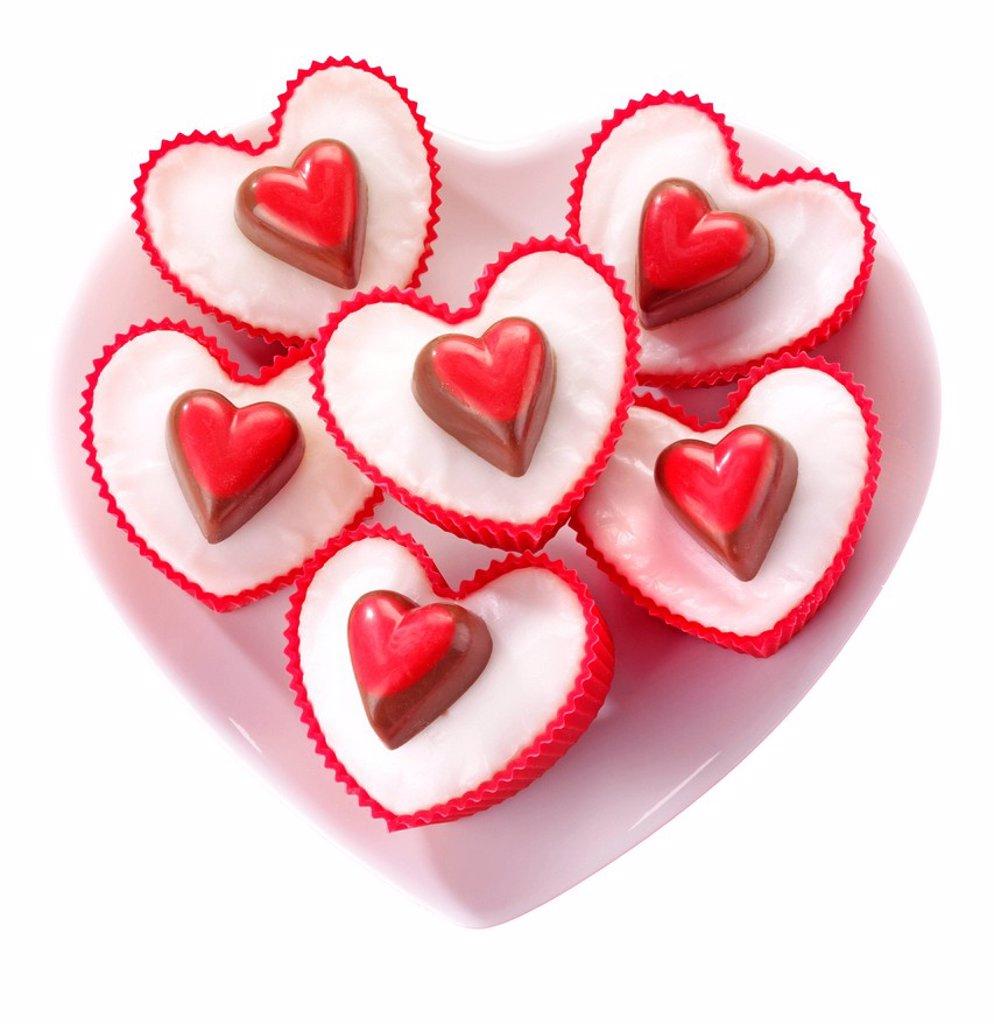 Heart Cupcakes : Stock Photo