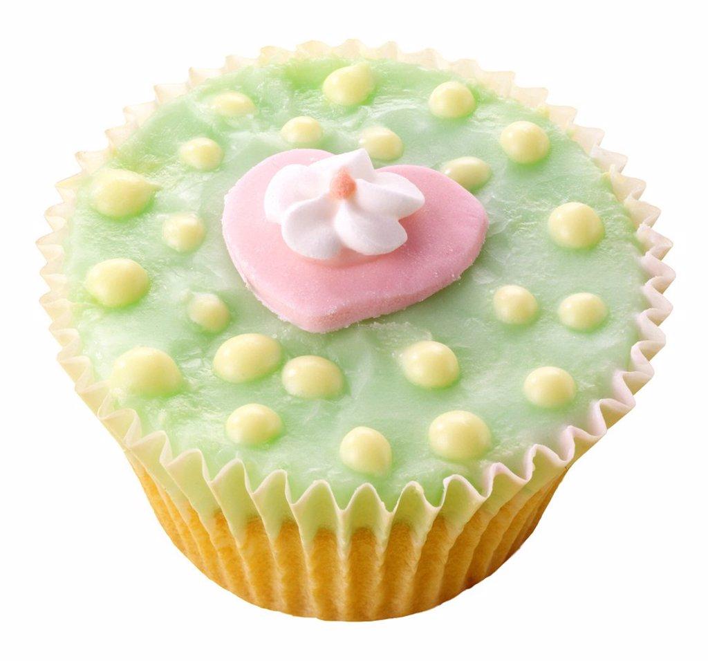 Green Cupcake : Stock Photo