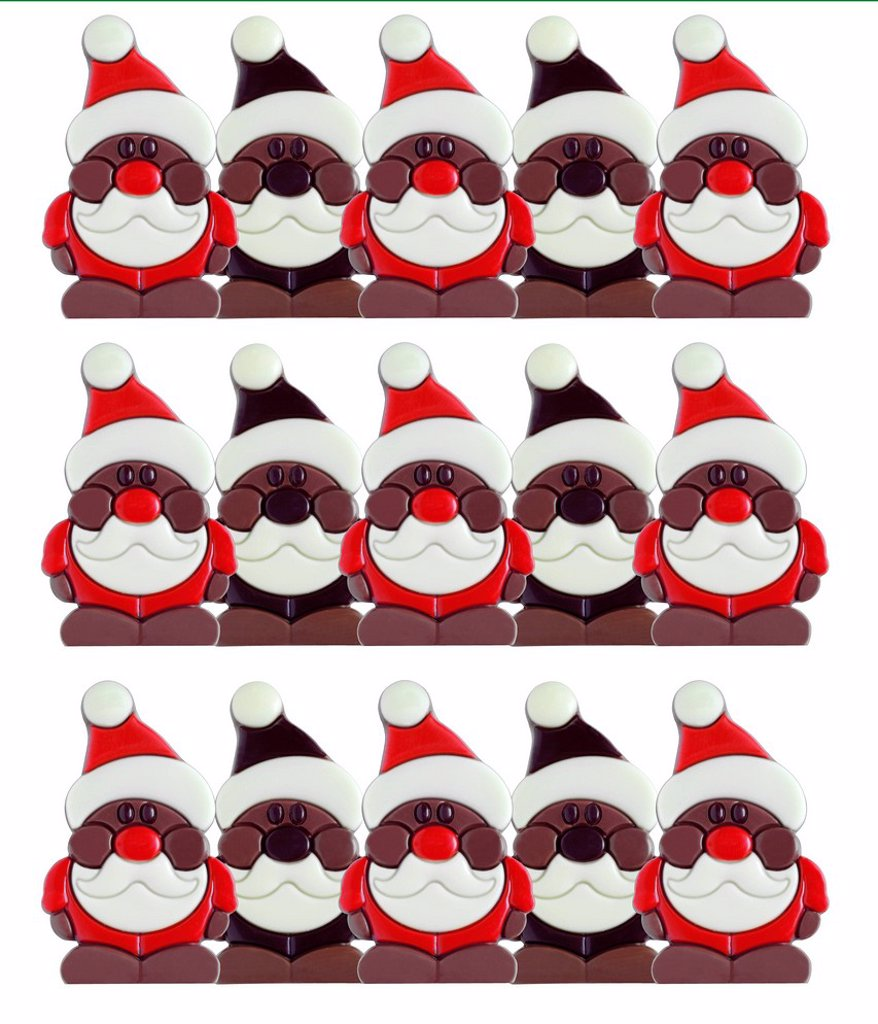 Chocolate Santas : Stock Photo