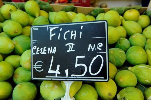 Fruit for sale Italian market, Tuscany, Italy : Stock Photo