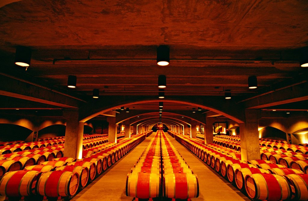 Robert Mondavi Wine Cellar, Napa Valley, California, North America : Stock Photo