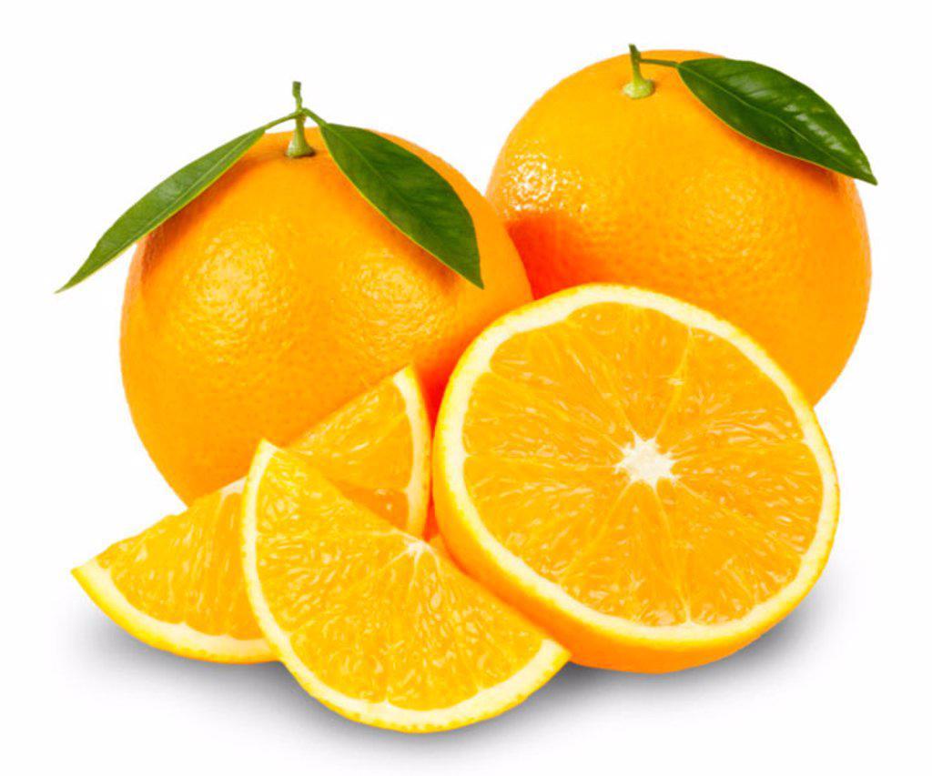 Oranges on white : Stock Photo