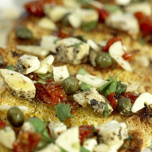 Maltese_style bruschetta : Stock Photo