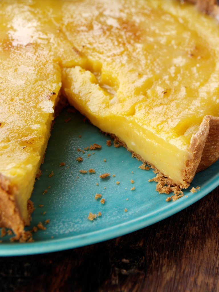 Stock Photo: 1898-50517 Lemon tart