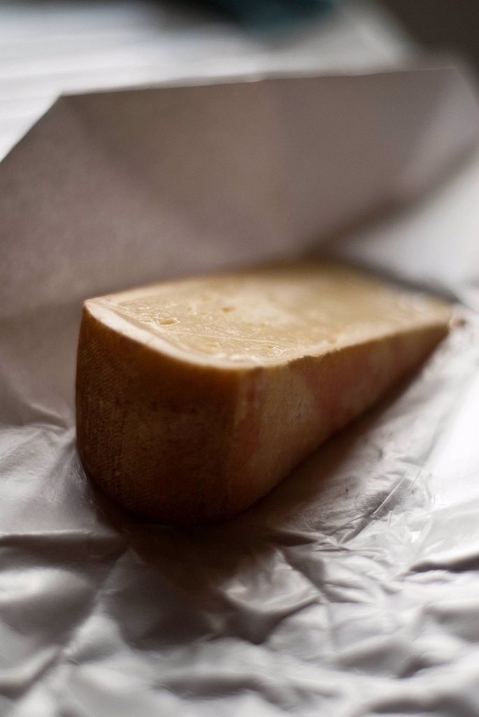 Wedge of Mature Cheddar Cheese : Stock Photo