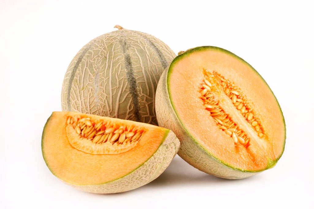 Stock Photo: 1898-5151 Cantaloupe melons