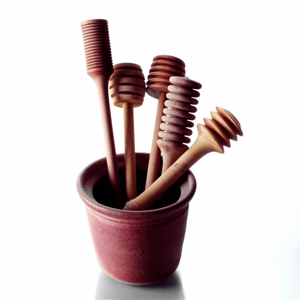 Stock Photo: 1898-52208 Selection of Honey Drizzler´s in a Pot