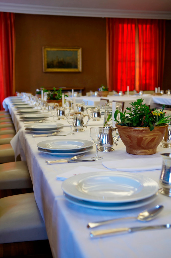 Stock Photo: 1898-52294 Set table at a fine dining restaurant