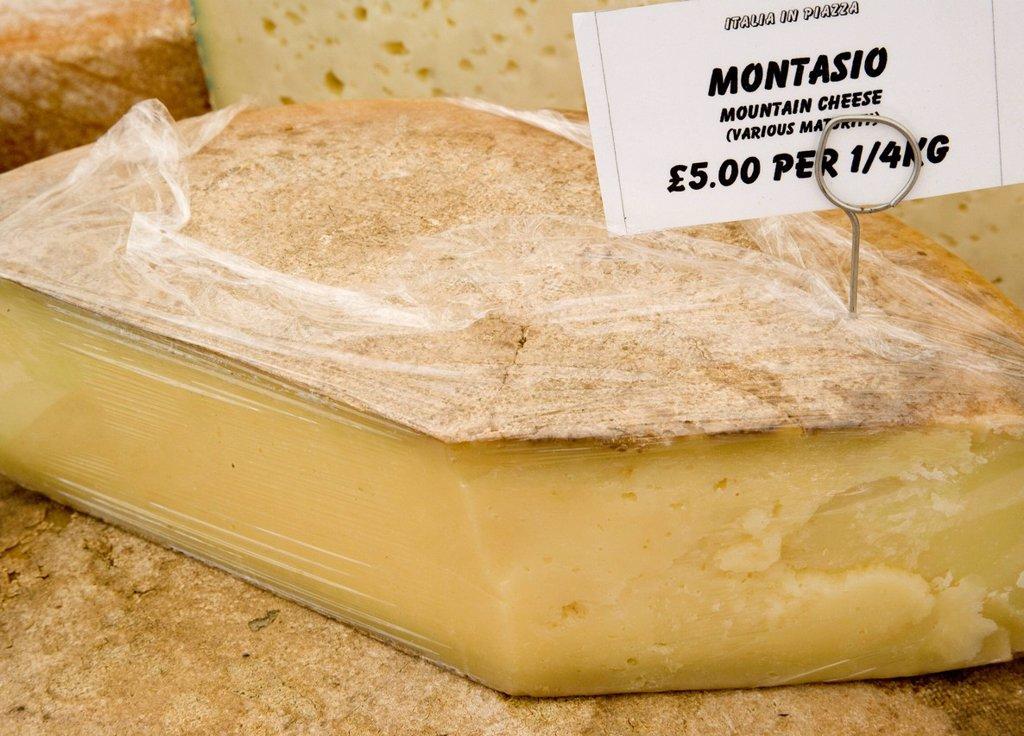 Stock Photo: 1898-52642 Italian cheese in an Italian market