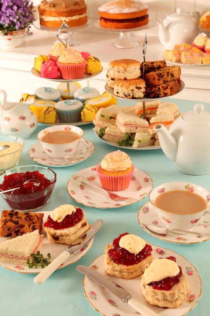 Stock Photo: 1898-53093 Cream tea