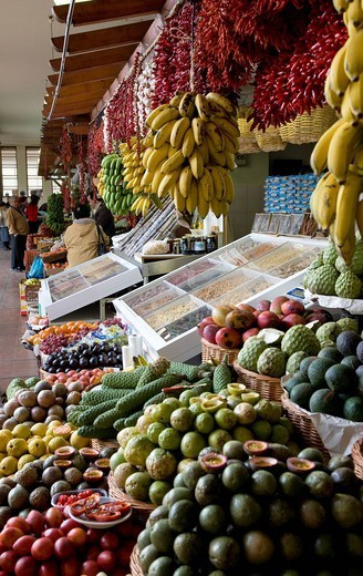Fruit market stall Portugal : Stock Photo