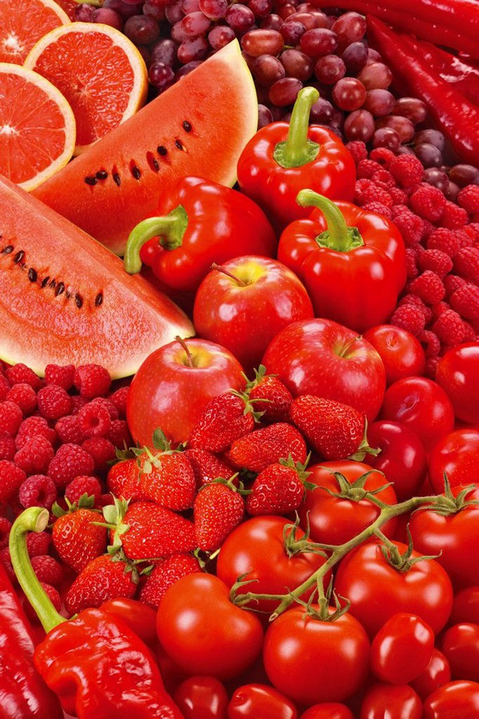 Stock Photo: 1898-5855 RANGE OF RED FOOD