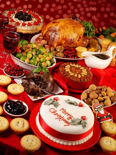 Traditional Christmas Food : Stock Photo