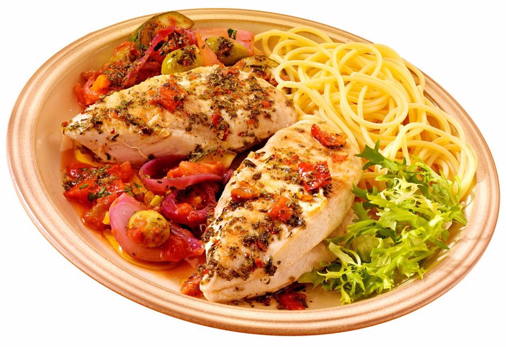 CHICKEN CACCIATORE : Stock Photo