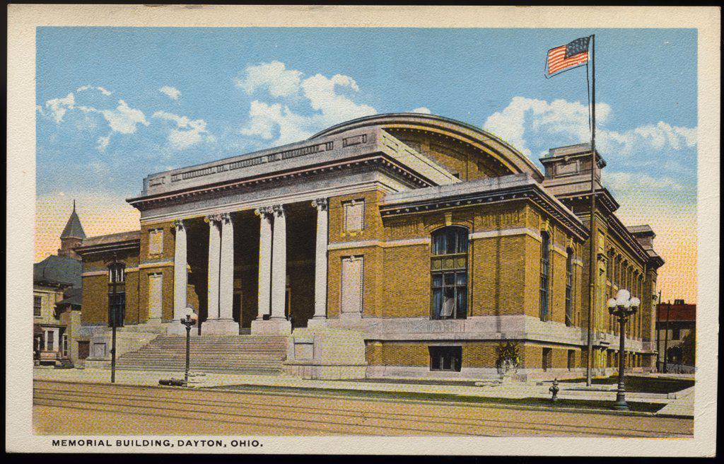Stock Photo: 1899-11386 Postcard of Memorial Building. ca. 1908-1910, MEMORIAL BUILDING, DAYTON, OHIO.