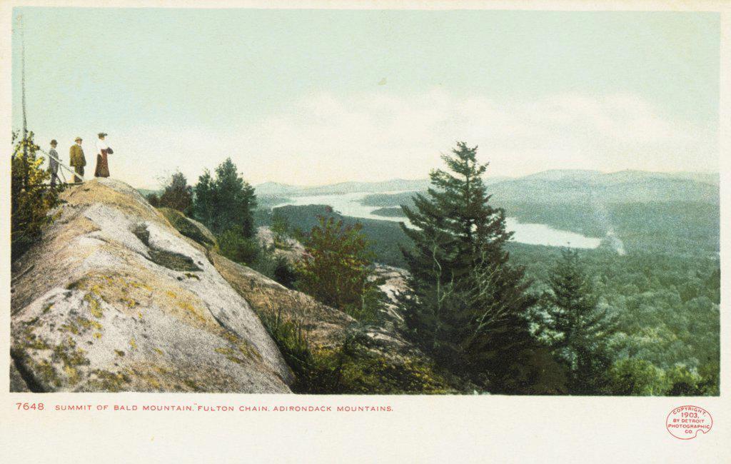 Stock Photo: 1899-11904 Summit of Bald Mountain Postcard. ca. 1904, Summit of Bald Mountain Postcard