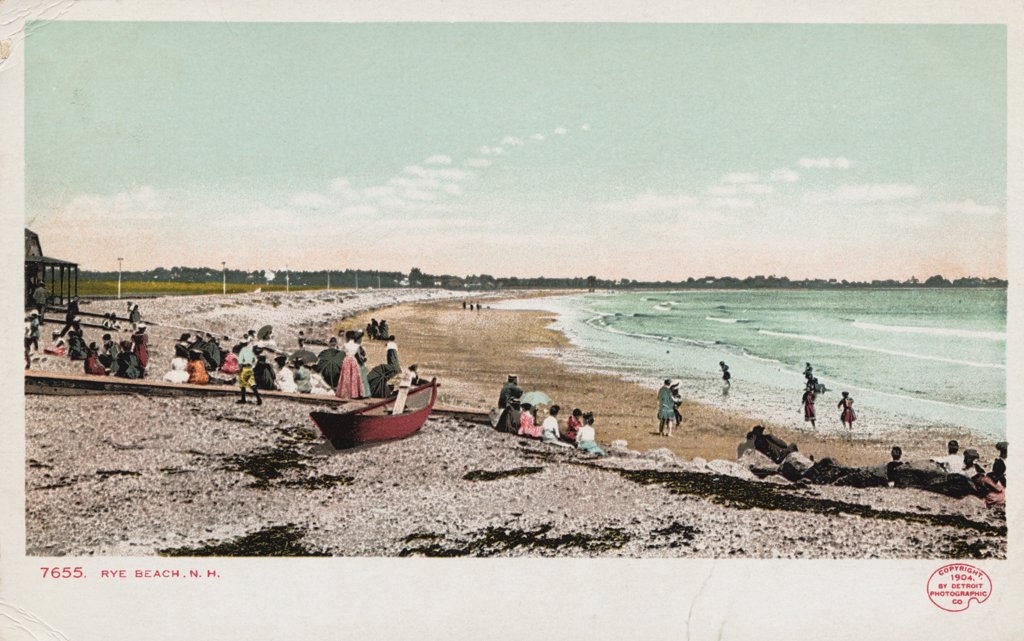 Stock Photo: 1899-11907 Rye Beach, New Hampshire Postcard. ca. 1903, Rye Beach, New Hampshire Postcard